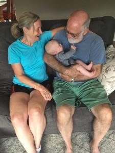 Awe!! Emily feels so safe with grandma and grandpa.